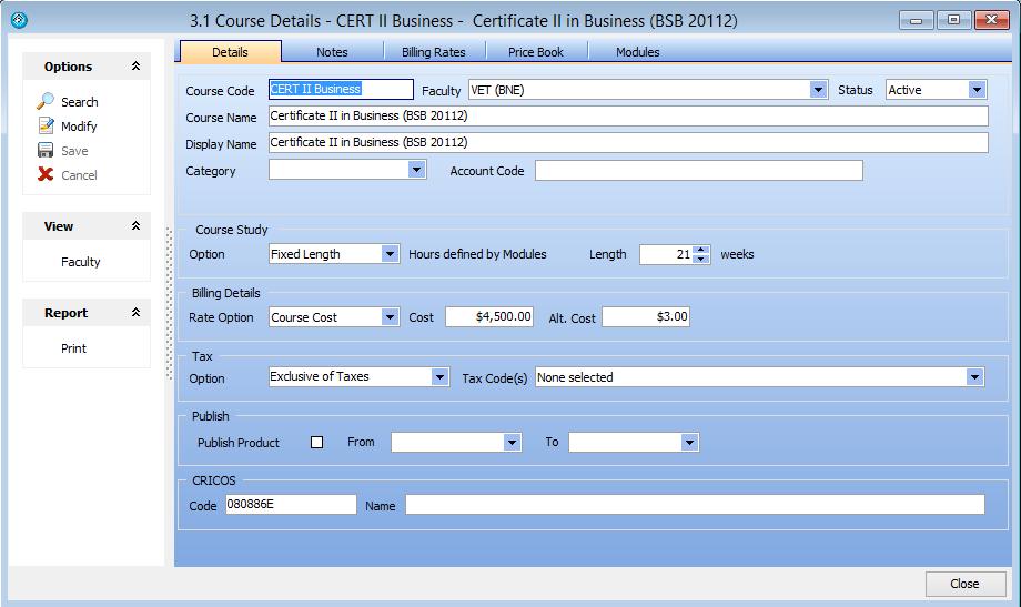 VET Classing – eBECAS Documentation