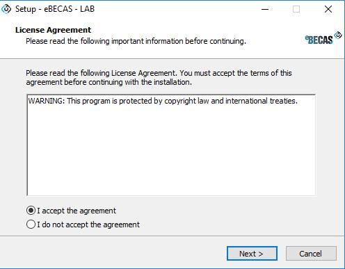 Installation and Updater – eBECAS Documentation